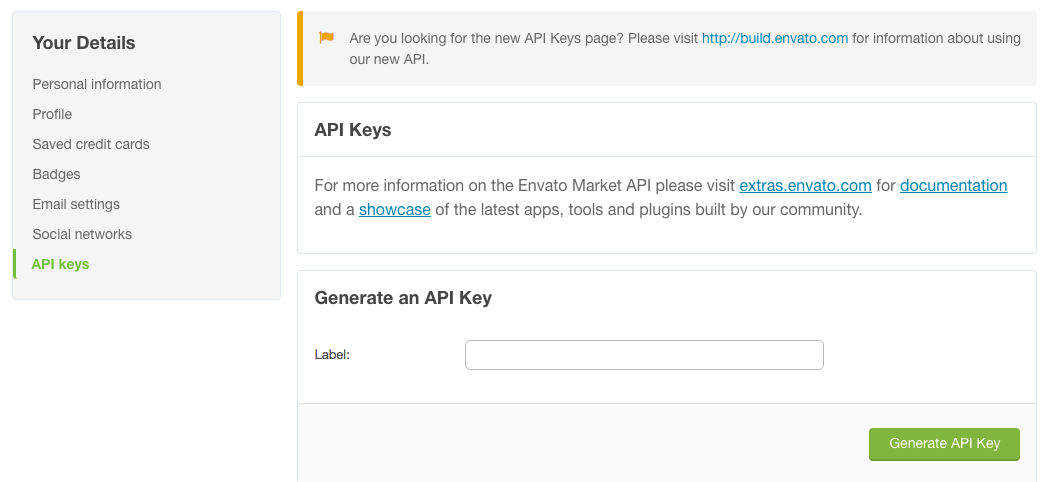 Edit API Keys | ThemeForest 2016-07-14 09-48-36